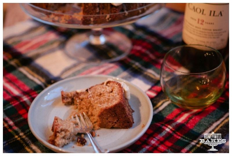 Burns scotch whisky cake