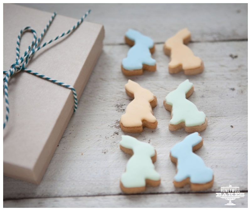 pastel easter bunny biscuits by post