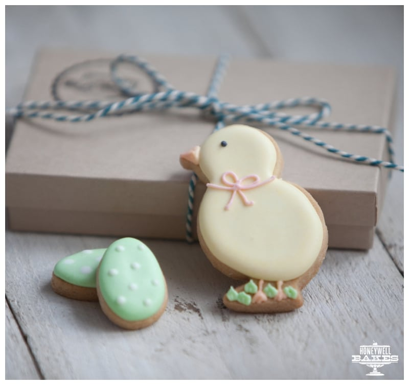Easter chick biscuits by post