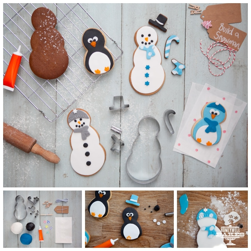 bake it yourself christmas snowman and penguin kit